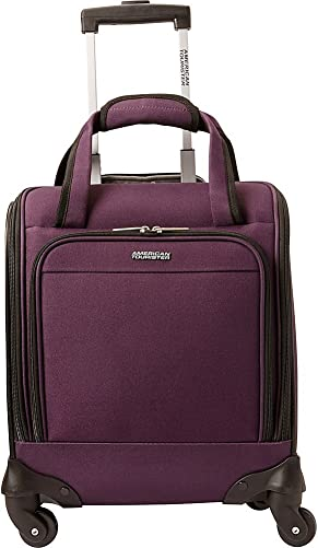 American Tourister Lynnwood 16 Inch Underseat Spinner Carry-On Luggage With Wheels – Eggplant