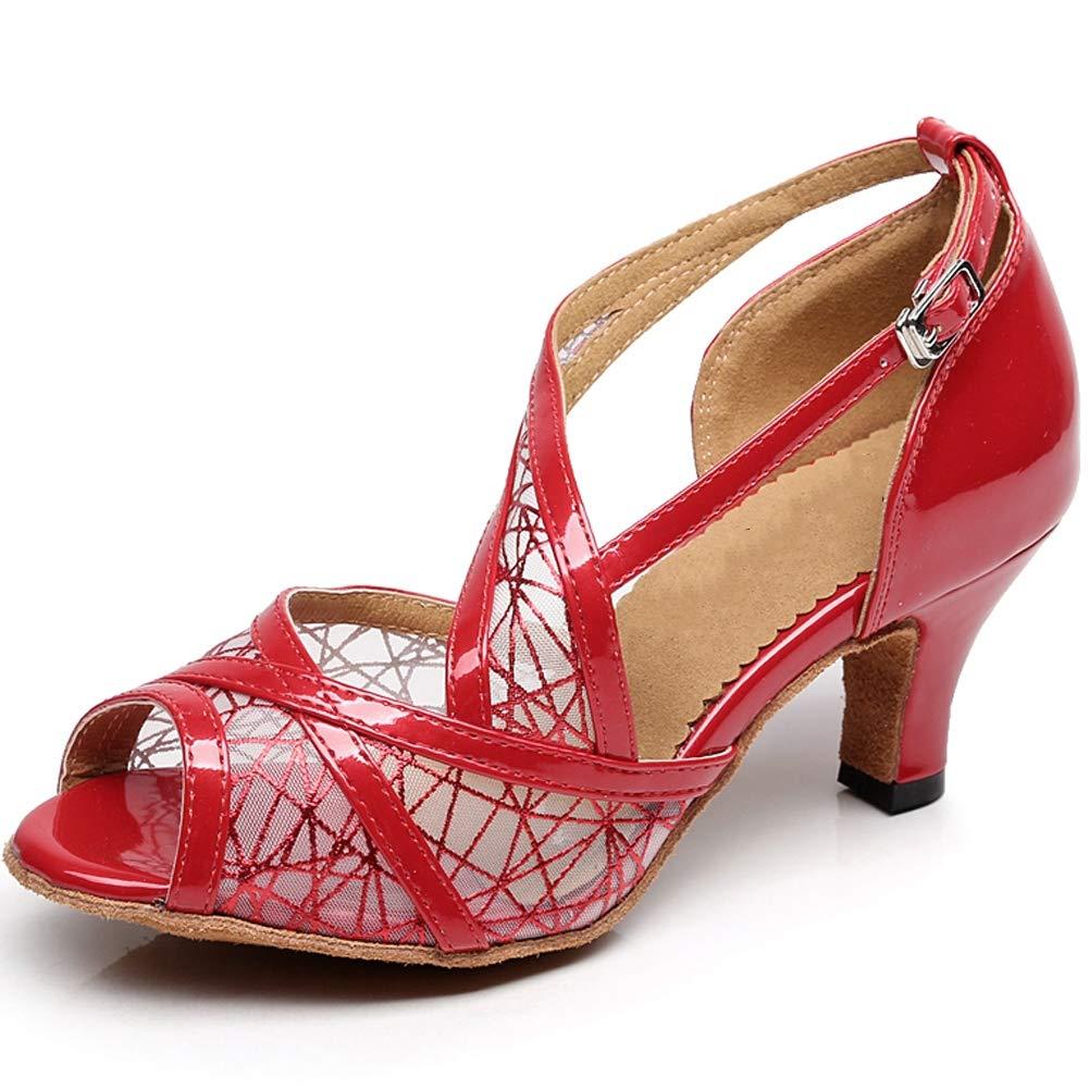 XIAOY Leder PU Kreuz Gurt Peep Toe High Heel Latein Tanzschuhe für Damen 8.5CM B07MV2LG5V Tanzschuhe Bekannt für seine hervorragende Qualität