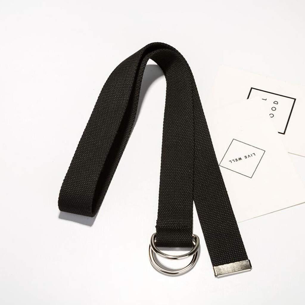 Canvas Web Belt Double D-Ring Buckle for Men//Women Military Striped Belts for Men
