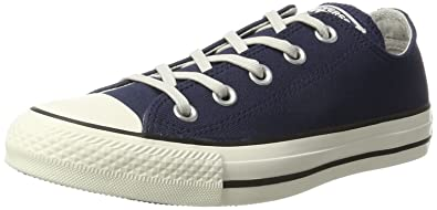Chuck Taylor All Star, Basses Mixte Adulte - Bleu - Blau (Midnight Navy/Black/Egret)Converse