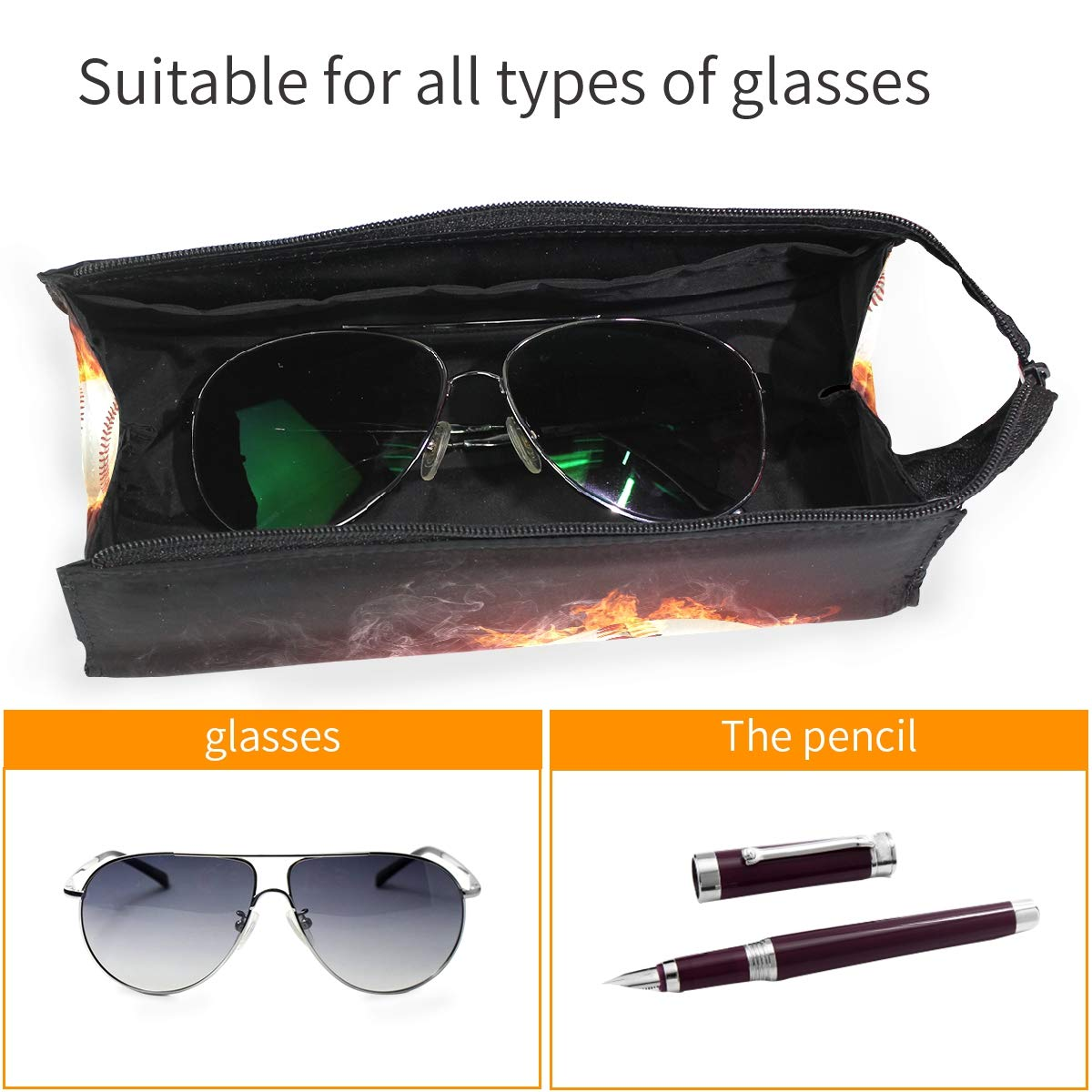 Glasses Case Most Beautiful Flowers Portable Soft Sunglasses Pencil Bag Protective Pouch