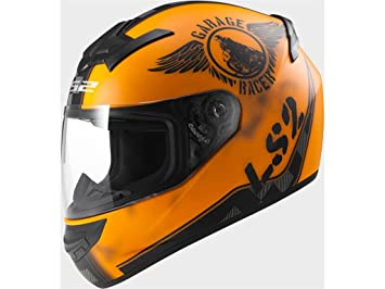 Casco integral moto LS2 FF352 Rookie Fan naranja mate (XL)