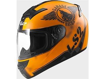 Casco integral moto LS2 FF352 Rookie Fan naranja mate (XL)