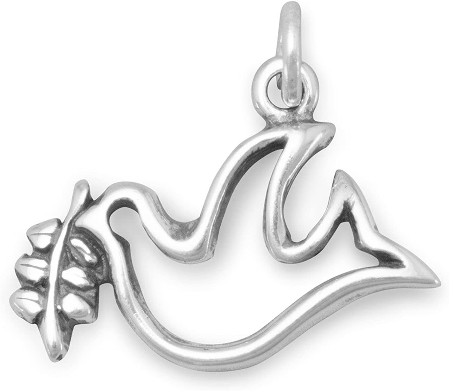 Sterling Silver Cz Dove Pendant Best Quality Free Gift Box