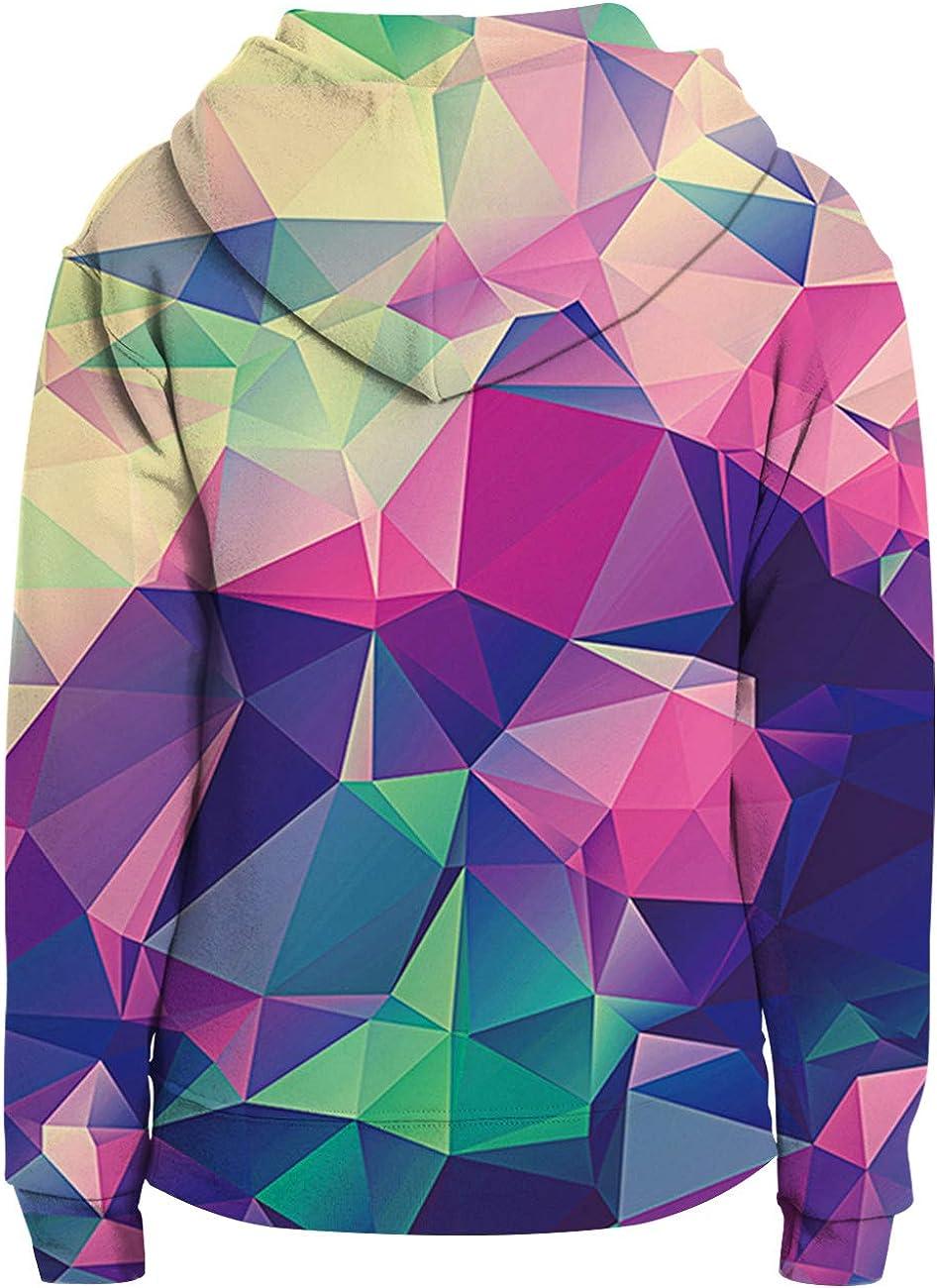 Loveternal Felpa Bambino 3D Felpe con Cappuccio con Tasche Manica Lunga Colorato Hoodie 5-13 Anni