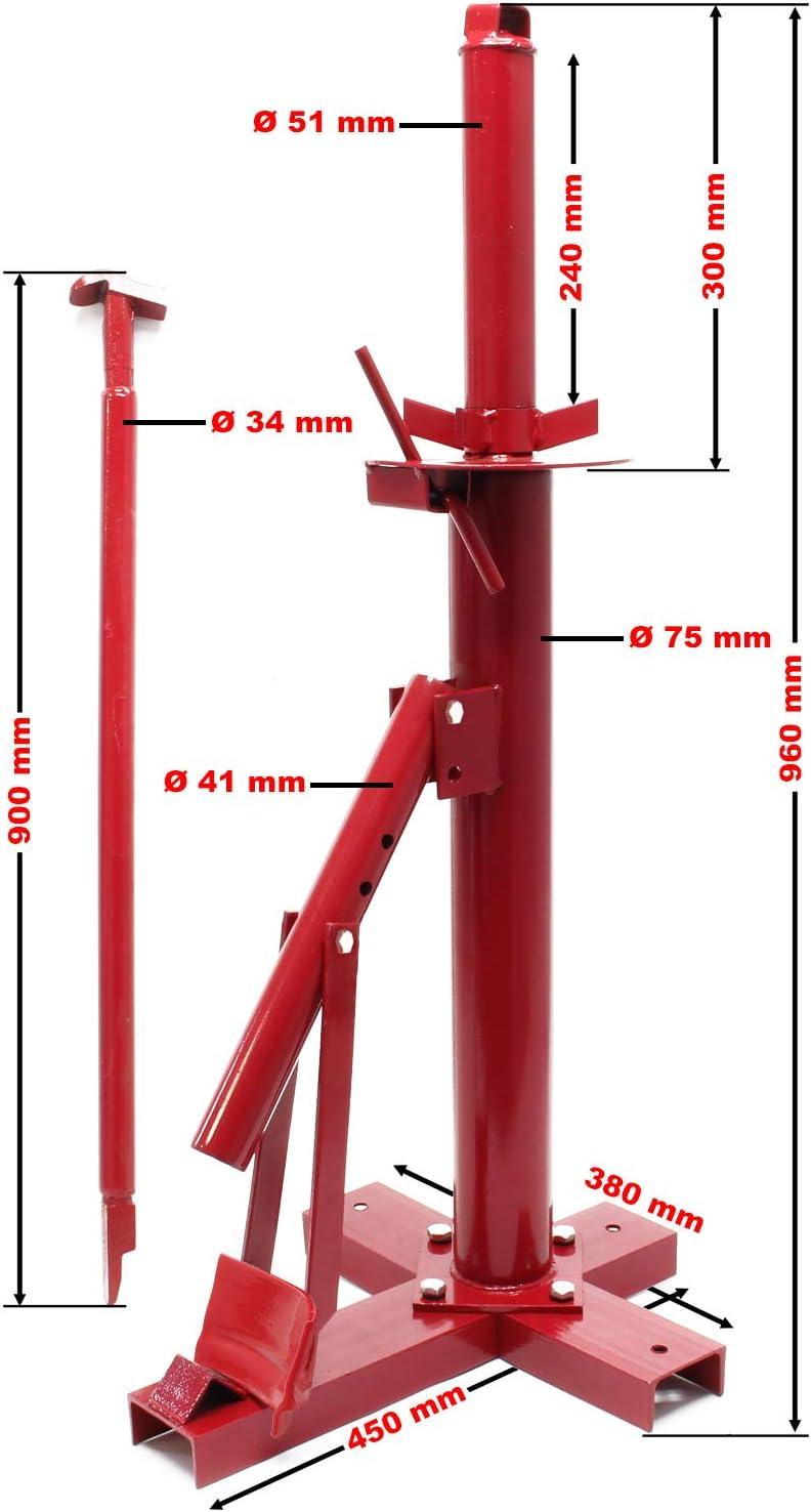 WilTec Montador desmontador Manual neumáticos Dispositivo Cambio ...