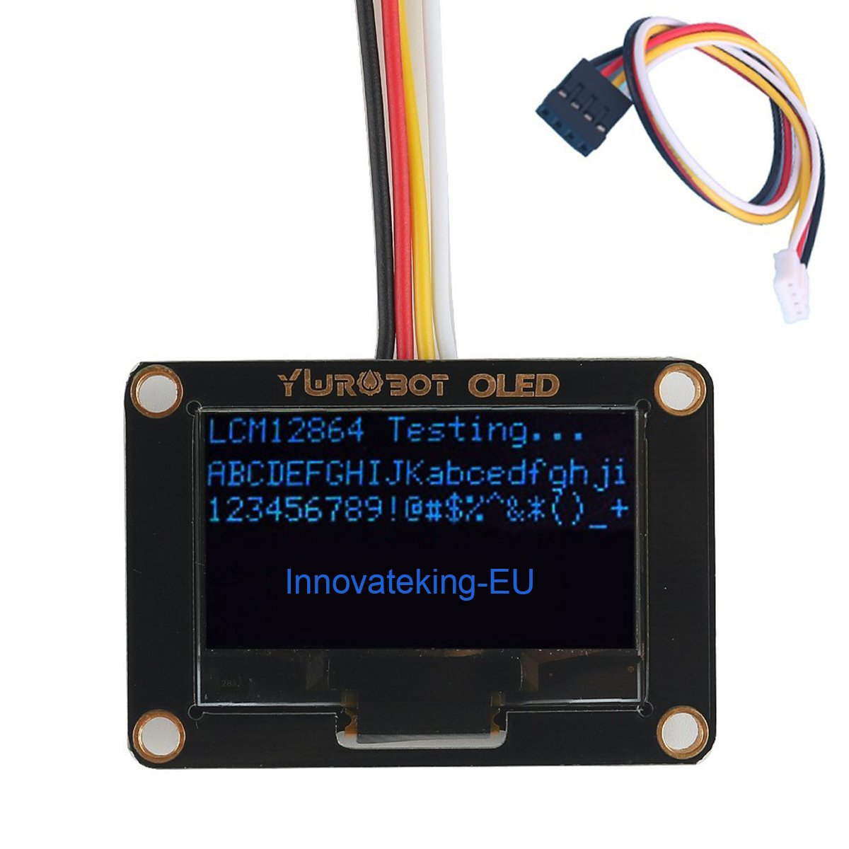 Innovateking-EU 0.96 OLED Display OLED 128x64 I2C Display Module Grove Dot Matrix Display Arduino Raspberry Pi OLED Display SSD1308 Chip
