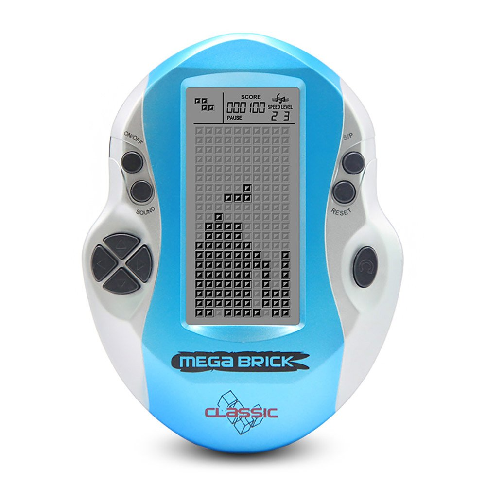 Goolsky Pocket Handheld Video Game Console 3in LCD Mini Portable Brick Game Player w/ Built-in 26 Games (Blue)