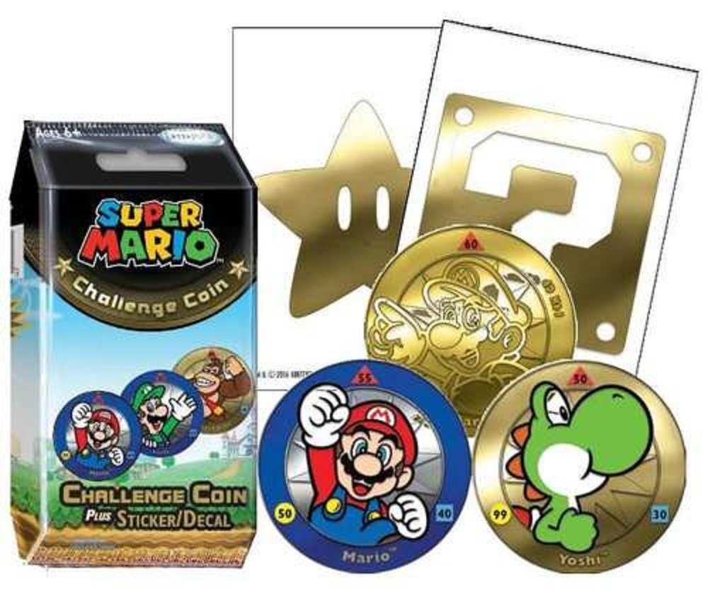 Super Mario Challenge Coin Display (24) by Super Mario Brothers