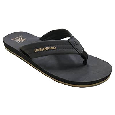 URBANFIND Men's Flip Flops Arch Support Sandals Comfortable Leather Thongs TPR Non-Slip Slippers | Sandals