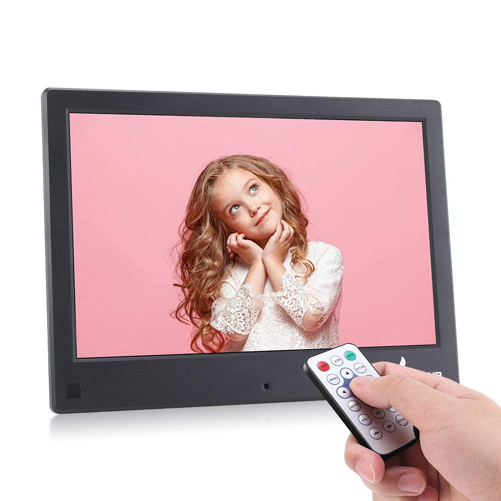 Bsimb 8 Inch Digital Photo Frame Digital Picture Frame IPS Hi-Res 1280x800(16:10) Display Motion Sensor Digital Photo & HD Video Frame And USB/SD Card Playback Infrared Remote Control M22 Black by Bsimb