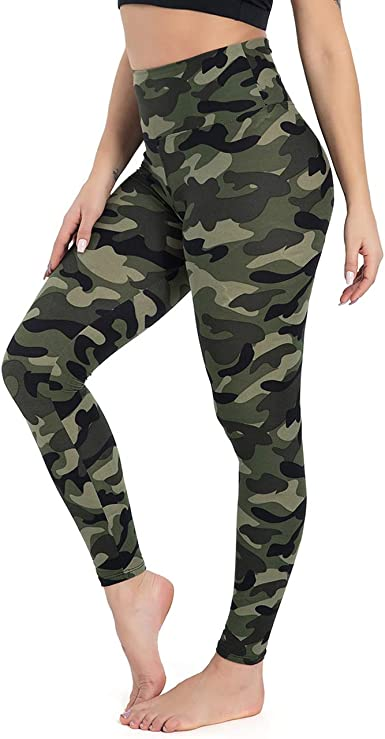 Soft Opaque Slim Printed Pants for Running Cycling Yoga HIGHDAYS High Waisted Leggings for Women