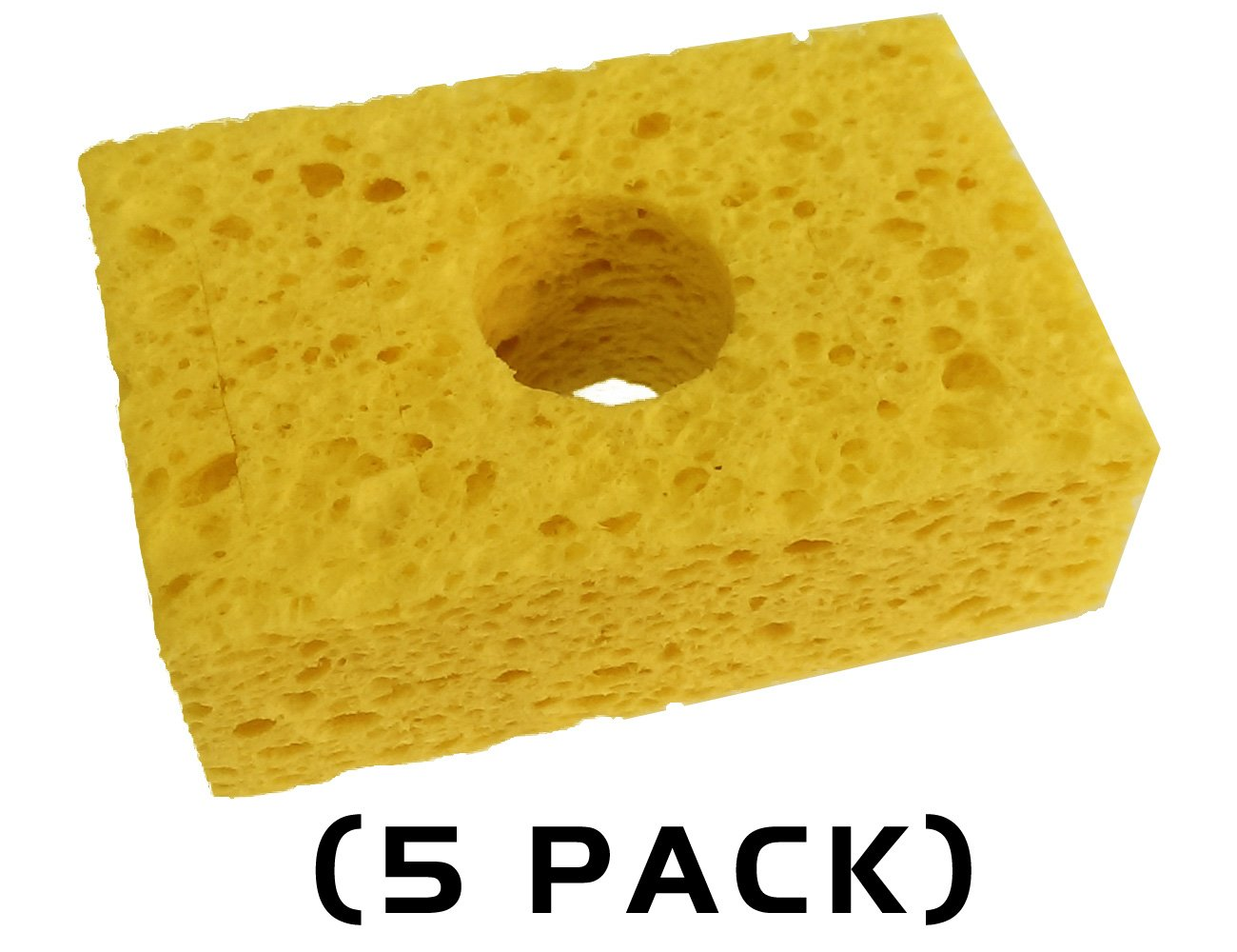 Thermaltronics SPG-5 Yellow, Sponge, (3.2' X 2.1') (5 PACK) (3.2 X 2.1) (5 PACK)