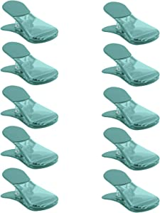 COOK with COLOR 10 Pc Bag Clip with Magnet, Chip Bag Clip, Sealing Food Clips, Plastic Clips for Food and Kitchen Storage, Chip Clip and Snack Bag Clips, Fridge Clips - Teal