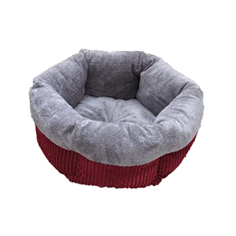 Hukangyu1231 Cama de Perro Mascota Hexagon Pet Litter Cat Litter Invierno Warm Teddy Kennel Cat Saco