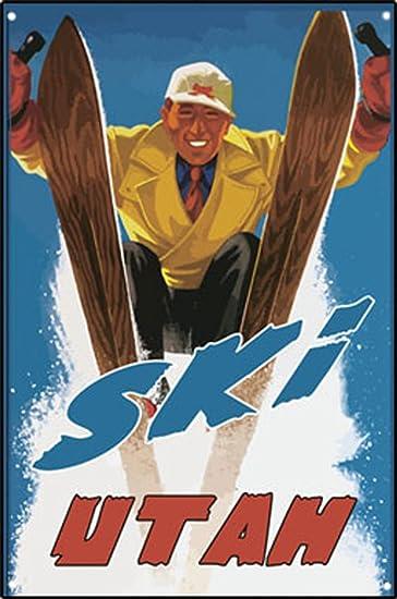 Mogul Blaster Utah personalizada de esquí Metal Sign signo ...