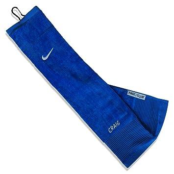 Azul personalizable cualquier nombre bordado Nike azul Golf Tri-fold negro terciopelo club/cara