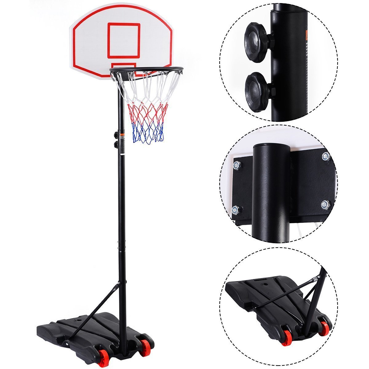 Amazon.com : Giantex Adjustable Basketball Hoop System Stand Kid ...