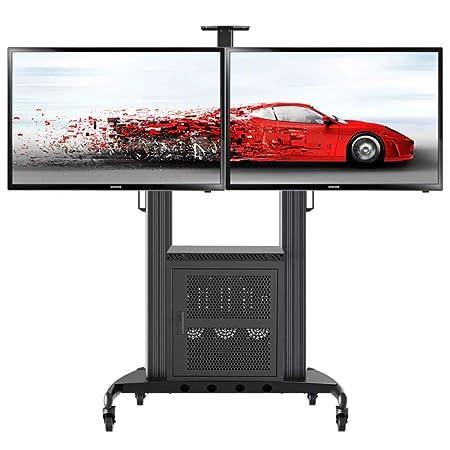 Carrelli Porta Tv Led.Mobile Porta Tv Carrello Doppio Schermo Audio Video Cabinet Cart