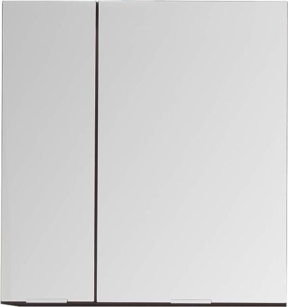 trendteam smart living Armario, Material de Madera, Cristal Gris de Grafito y Espejo, 60 x 63 x 20 cm: Amazon.es: Hogar