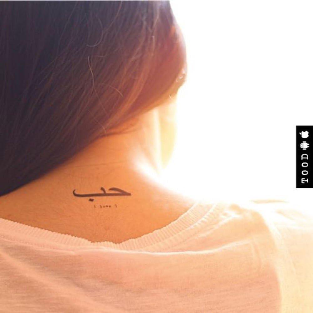 Tatuaje Temporal de Caligrafía de amor árabe (2 Piezas) - www ...