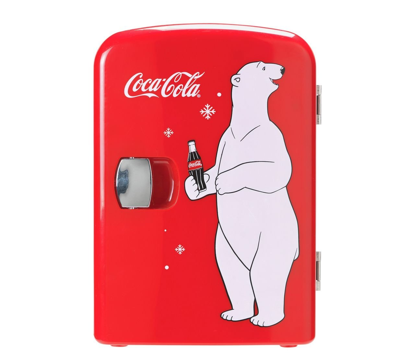Coke Mini Kühlschrank mit Bär: Amazon.de: Sport & Freizeit