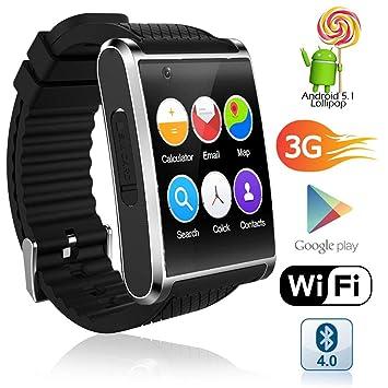 Indigi® Nueva 2017 3 G Android 5.1 Smart reloj teléfono (GSM fábrica desbloqueado) Mapas + WiFi + GPS + Google Play + 32 GB Bundle: Amazon.es: Electrónica