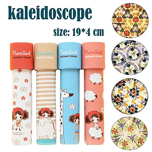 Price comparison product image Codiak Classic Kaleidoscope Toy with Paper Shell Body Educational Toys Birthday Present for Kids Different Exterior Designs Random Delivery