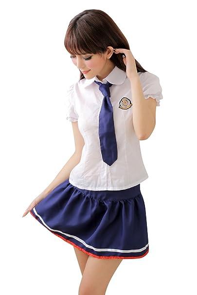 Shangrui Mujer Los Estudiantes Que Reciben Cosplay Traje Uniformes Marinero de la Tentación Lencería Mordaz YF099