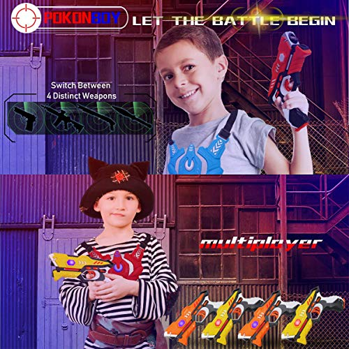 POKONBOY Toy Laser Tag for Kids - Laser Tag Sets with Gun and Vest Multiplayer Game for Kids Adults ( 4 Sets ) by POKONBOY (Image #4)