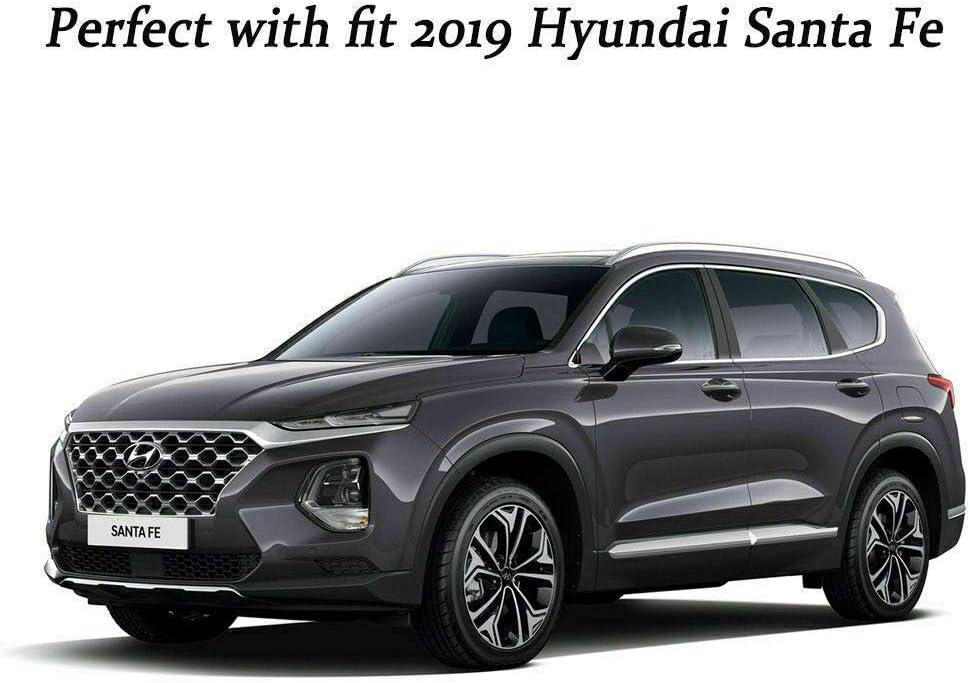 Acrylic Bonnet Hood Guard Garnish Deflector D-622 Blk for Hyundai Santa Fe 2019