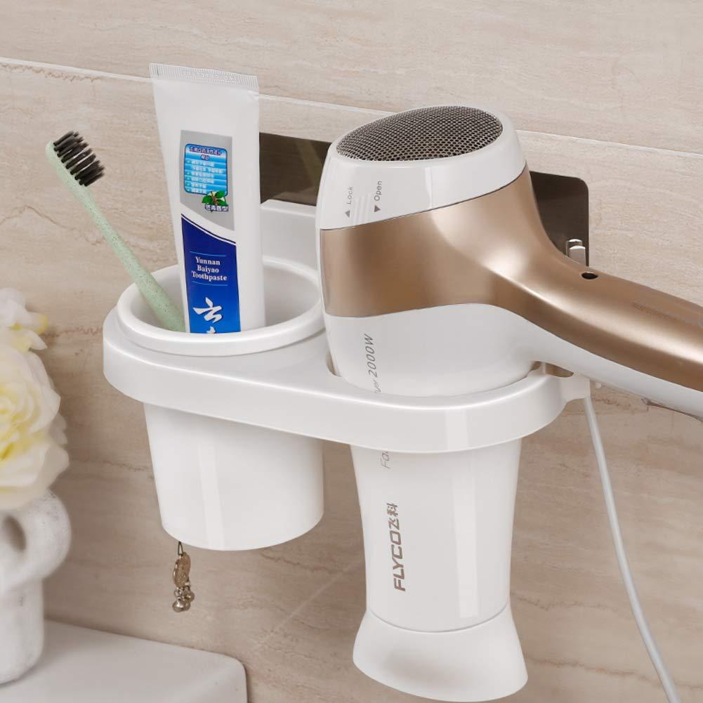 Blower Shelf The Shelf In The Bathroom Wall-mounted Bathroom Hairdryer-A