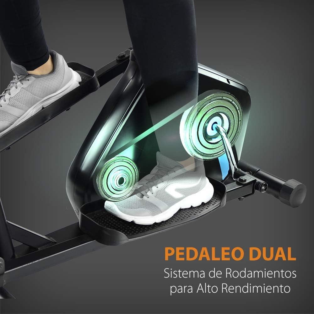 /écran LCD Moniteur de fr/équence Cardiaque Double Guidon Ergonomique Frein magn/étique intensit/é r/églable gridinlux 8 Niveaux. Bicyclette elliptique multifonctionnelle