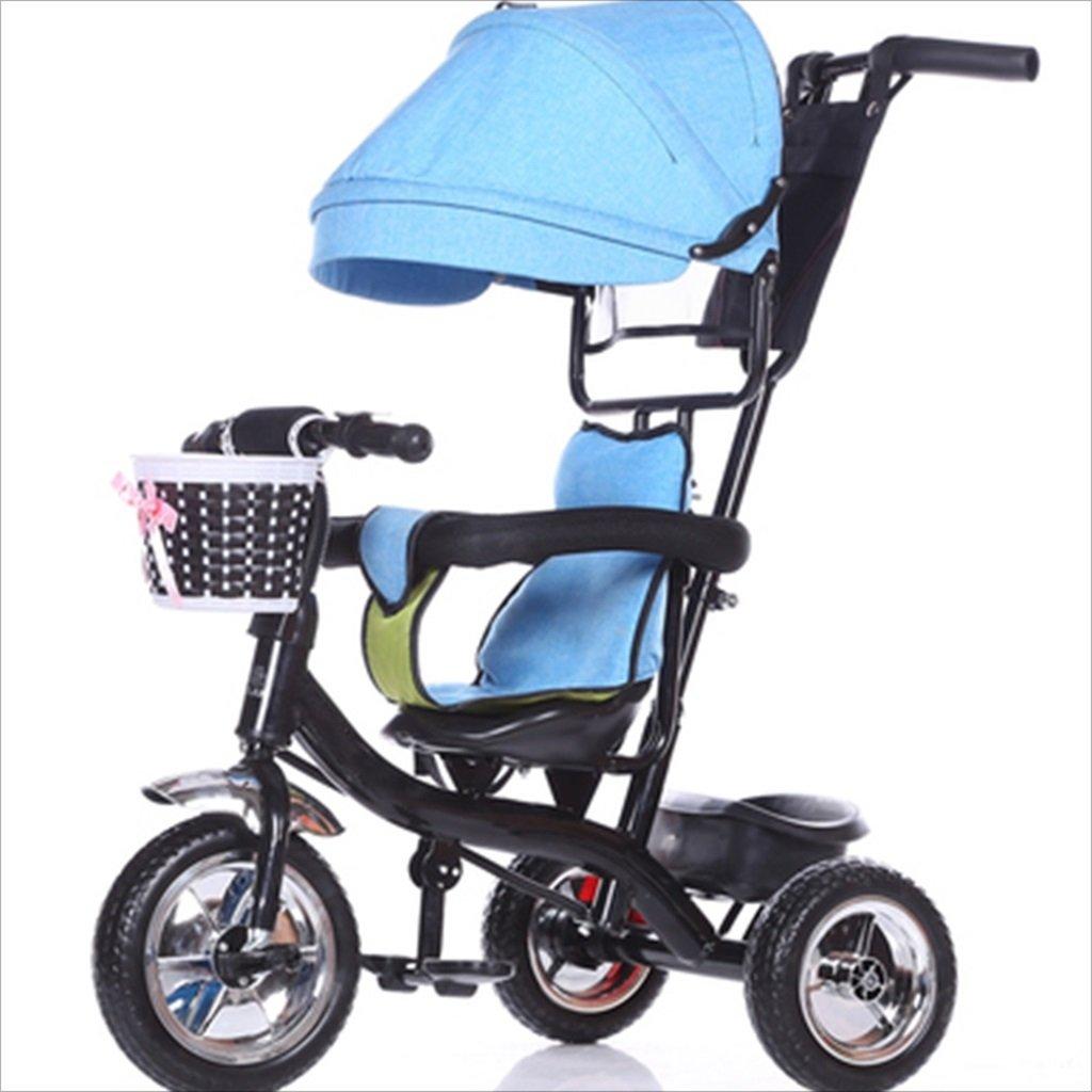 子供の屋内屋外の小さな三輪車自転車の男の子の自転車の自転車6ヶ月-6歳の赤ちゃん3つのホイールトロリー天井、固体プラスチックホイール (色 : 1) B07DVKC8GG 1 1