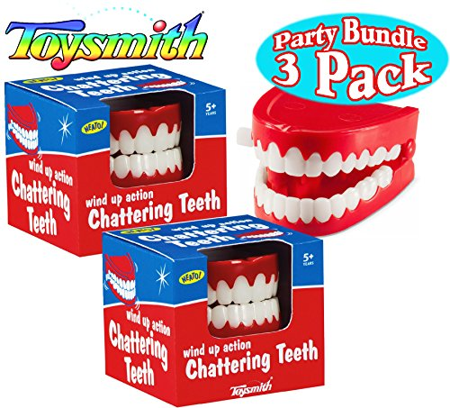 Toysmith Wind Up Chattering Teeth Party Set Bundle - 3 Pack ()