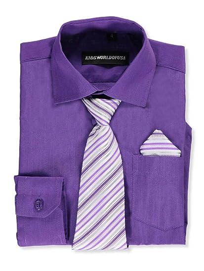 71382a36fc7e Amazon.com: Kids World Big Boys' Dress Shirt with Accessories: Clothing