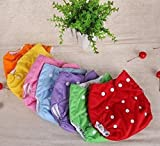 LUKZER Reusable New Adjustable (for all sizes) Baby Washable Cloth Diaper Nappy Pack Of 1 With 1 Diaper Liner (Inner Cloth) for Babies of Ages 0 to 2 years, Random Color