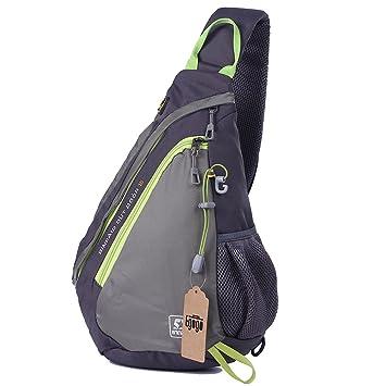 EGOGO Multi-functional Sling Pack Backpack Cross Body Pack Shoulder Sling  Bag E300-5 (Gray) 0689ce62fa703