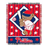 MLB Philadelphia Phillies 36-Inch-by-46-Inch Woven Jacquard Baby Throw