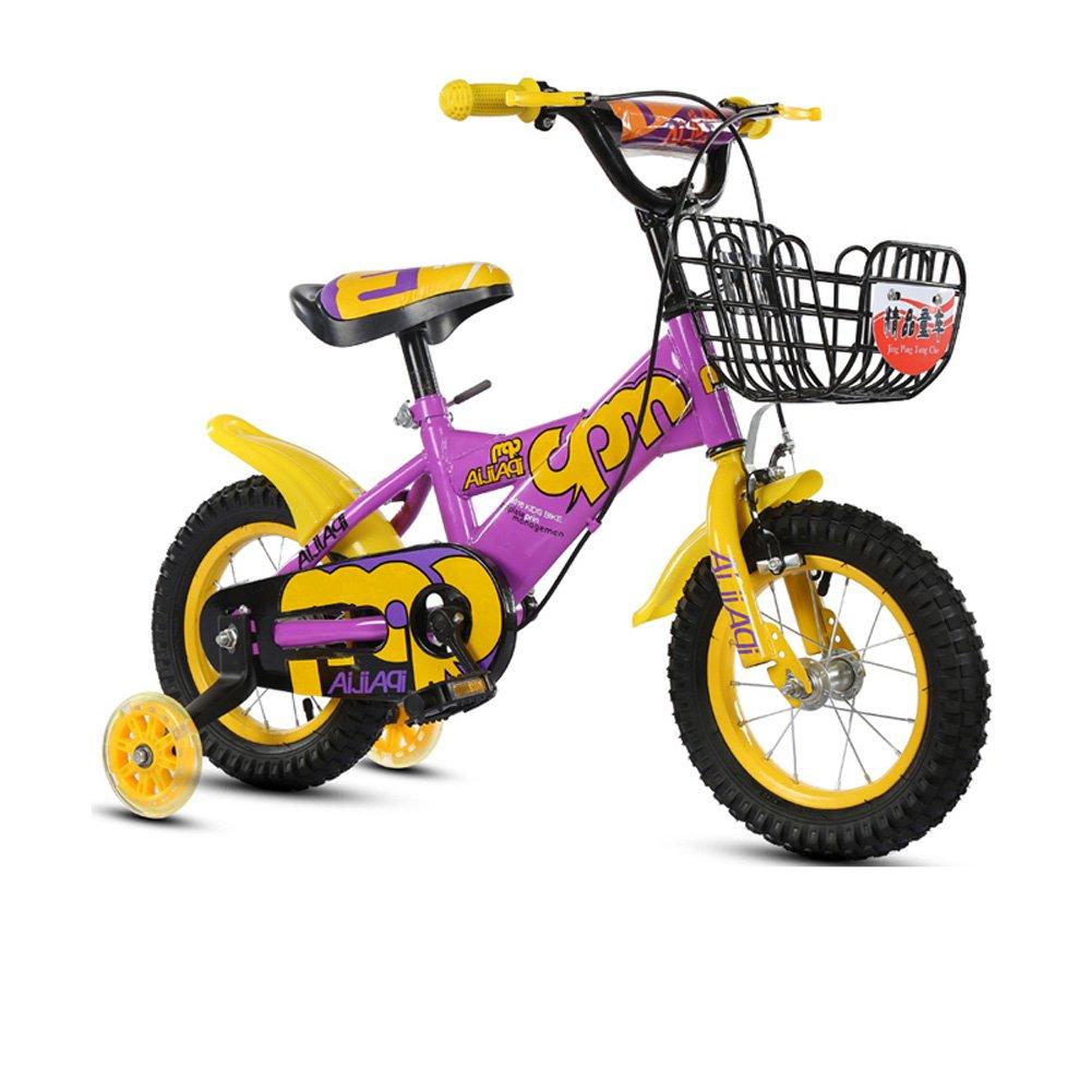 yxgh-ユニセックス子供の自転車2 – 11 Years Old Baby Carriage 12 /14 /16 /18インチBike withフラッシュトレーニングホイール B07F8H8S48 14