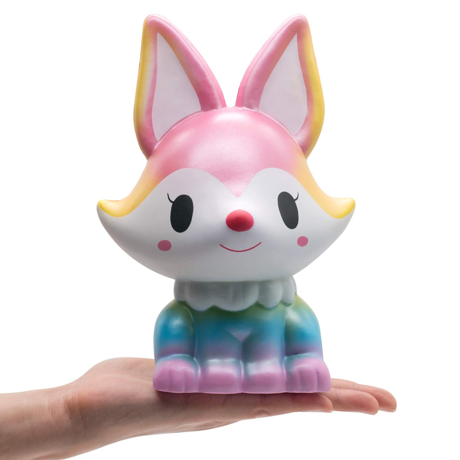 Fox Squishies Jumbo 8.1 Inch - Crefun NM9214 (2019 New) Giant Big Huge Squishies Slow Rising Cute Squishy Animals Gifts for Kid Stress Relief Toys, Super Soft Cream Scented Kawaii, CPSC Certified,24-h