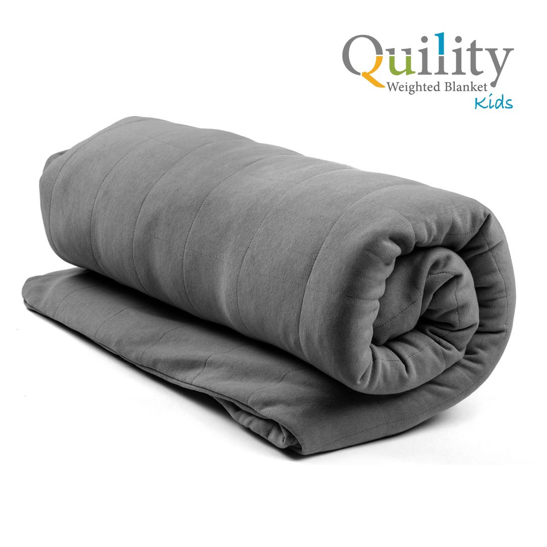 """Quility Premium Weighted Blanket for Kids & Removable Cover 
