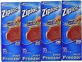 ziploc bags freezer pint - Ziploc Freezer Bags - Pint, 80 Count