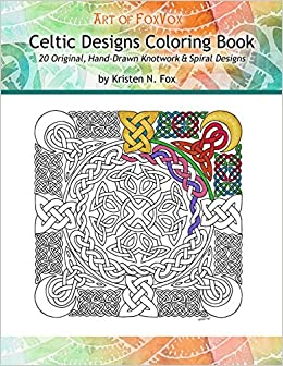 amazoncom celtic designs coloring book 20 original hand drawn knotwork spiral designs 9781514691564 kristen n fox books - Celtic Coloring Book