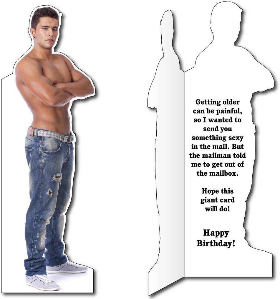 Sexy Man VictoryStore Jumbo Greeting Cards 5 feet 8 inches Card with Envelope Giant Birthday Greeting Card