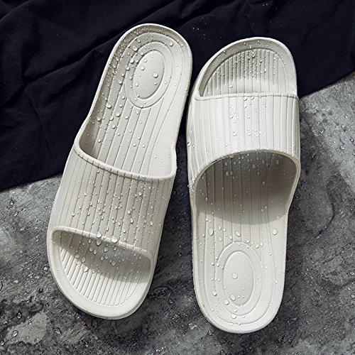 estate fresco di letto e in morbida antiscivolo rimanere pantofole 43 uomini la da fankou le grigio della sandali camera paio donne a casa bagno 44 a5qUXw1F