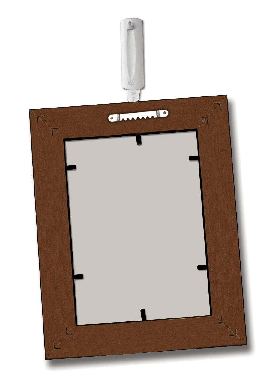 Hooks Without Nails Part - 30: Command Sawtooth Picture Hanger, White, 1-Hanger (17040ES) - Picture  Hanging Hardware - Amazon.com