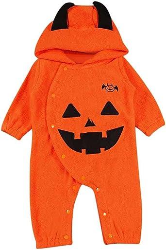 Disfraz Halloween Bebe niña niño Calabaza Monos con Capucha y ...