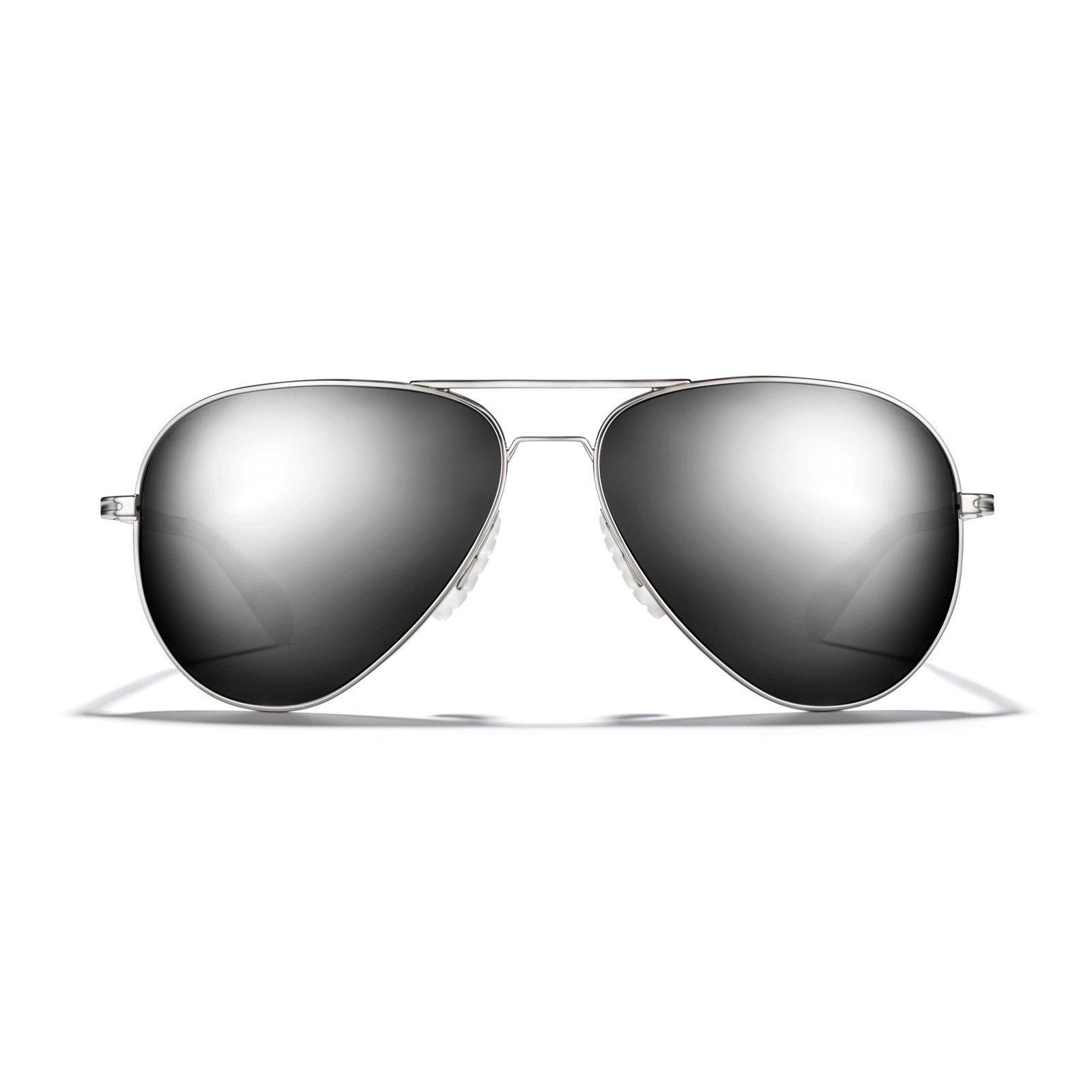 403176d5e7d Galleon - ROKA Phantom Alloy Sports Performance Aviator Non-Polarized  Sunglasses For Men And Women - Silver Frame - Dark Arctic Mirror Lens
