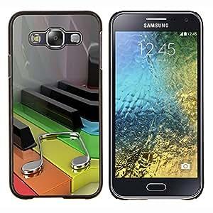 TECHCASE---Cubierta de la caja de protección para la piel dura ** Samsung Galaxy E5 E500 ** --Música color Piano